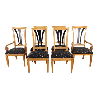 Thomasville Grand Classics Empire Neoclassical Biedermeier Dining Chairs-Set of 6 For Sale