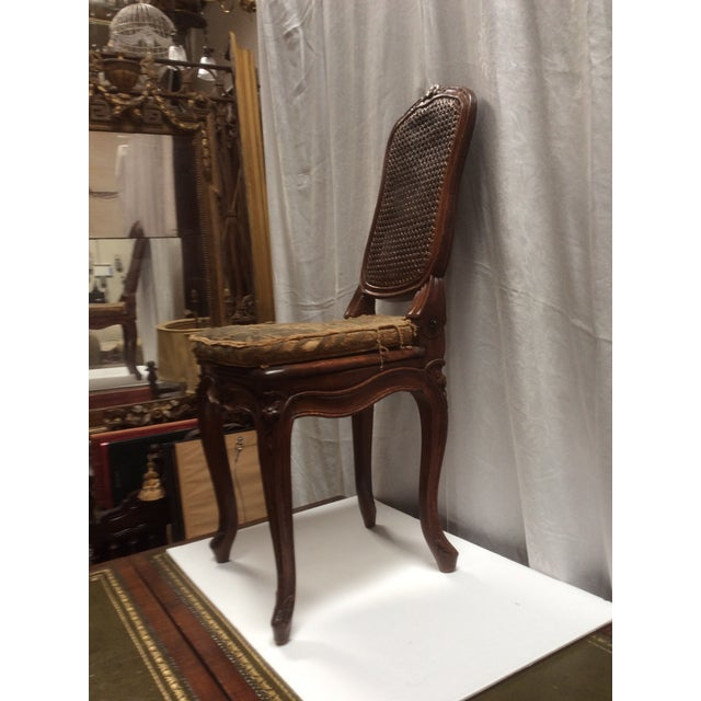 18th C. Original French Aubusson Tapestry Side Chair For Sale - Image 9 of 11