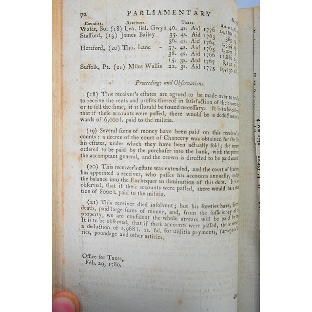 18th C. English Parliamentary Register - 23 Books - Image 8 of 8