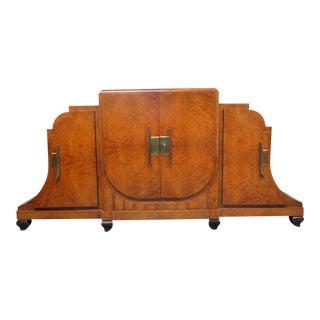 Camard Jules Leleu Style Art Deco Marble Top Sideboard