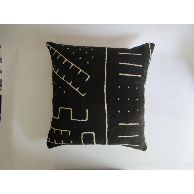 Black Kuba Cloth Pillows - A Pair - Image 8 of 8