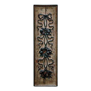 1990s Louis XVI Style Carved Boiserie Wall Panel For Sale
