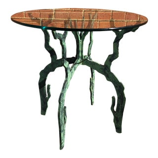 Post Modern Verdigris Accent Table Base For Sale