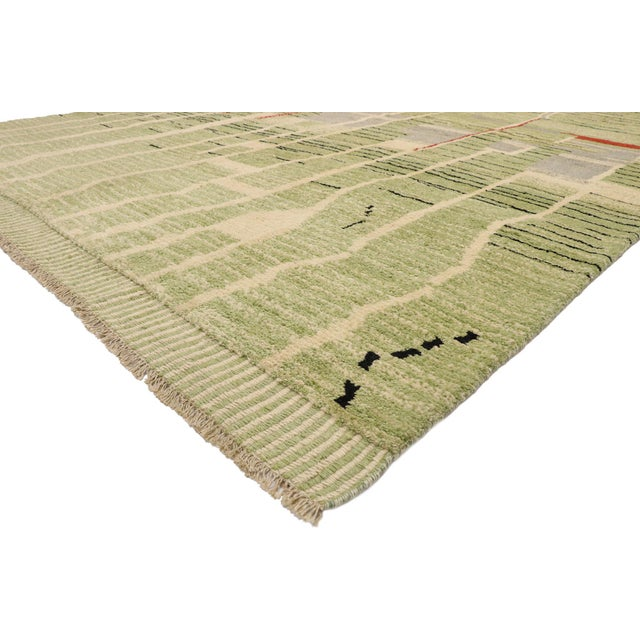 80565 New Contemporary Moroccan Area Rug with Bauhaus Style and Abstract Expressionism 10'00 x 13'08. Reflecting facets of...