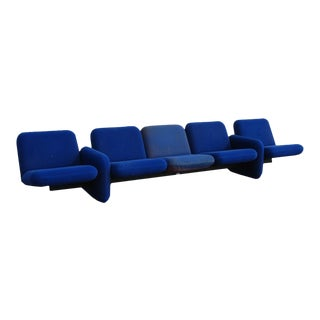 1970s Chiclet Modular 5- Seat Sofa by Ray Wilkes For Sale