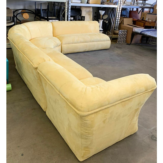 Postmodern Large Postmodern 4 Piece Sectional Sofa, 1980's For Sale - Image 3 of 5