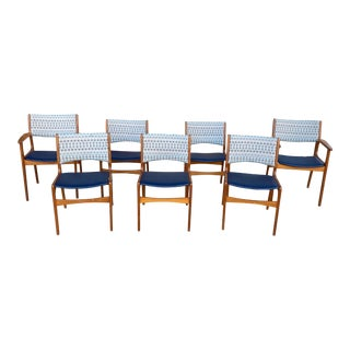 Vintage Danish Teak Dining Chairs - Set of 7 For Sale