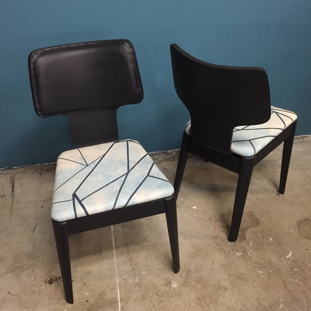 Black Mid-Century Bentwood Chairs - Pair - Image 3 of 5