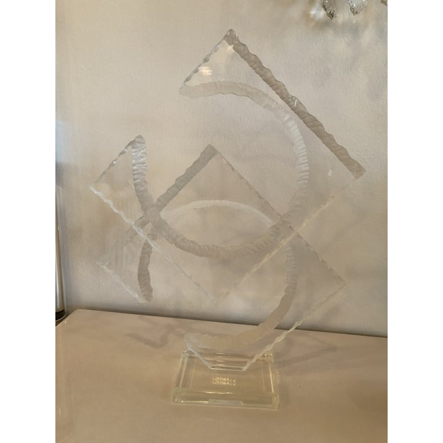 Vintage Signed Van Teal Lucite Statue For Sale - Image 11 of 12