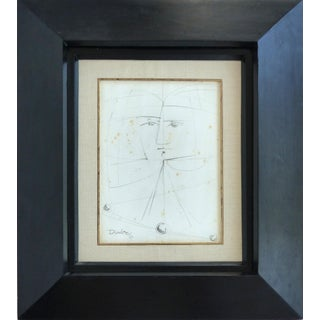 Pencil Sketch by Cuban Artist Rolando López Dirube (1928-1997) Signed & Dated 87 For Sale