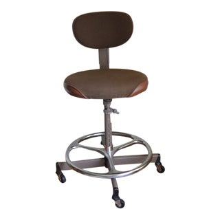 1950s Industrial Cramer Drafting Stool For Sale
