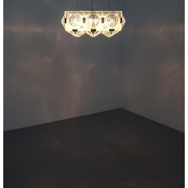 1 of 7 Kamenicky Senov Bohemian Glass Flush Mount Ceiling Lamp, Czechia For Sale - Image 10 of 13