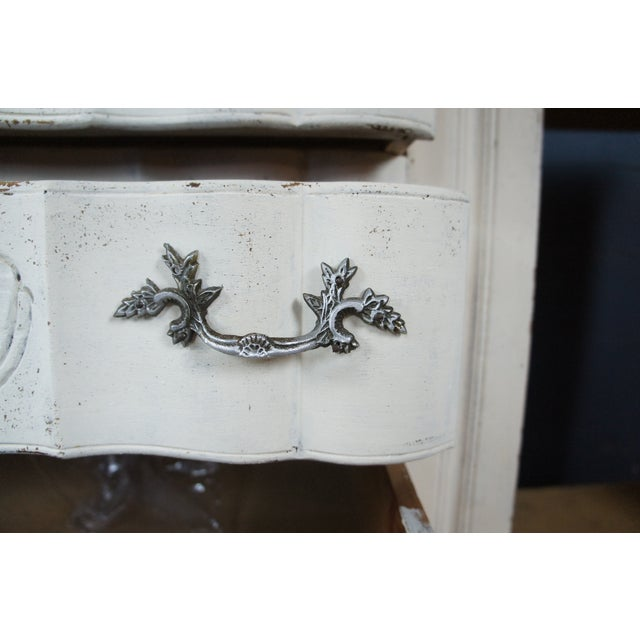 19th Century Antique French Country Provincial White Sideboard For Sale - Image 11 of 13