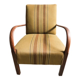 Swedish Curved Arm Club Chair For Sale