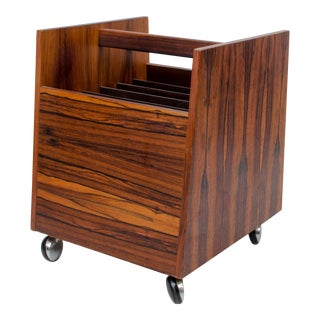 Rolf Hesland for Bruksbo Rosewood Magazine or LP Rack For Sale