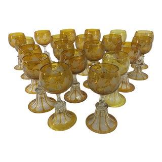1920's Liqueur Glasses - Set of 20