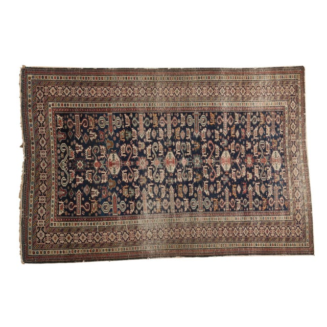 """Antique Shirvan Rug - 4'3"""" x 6'7"""" For Sale - Image 11 of 11"""