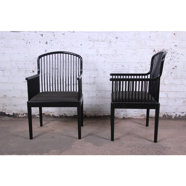 1980s Stendig Andover Black Spindle Armchairs - a Pair For Sale - Image 5 of 13