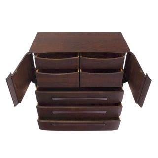 Mid Century Modern Walnut High Chest Dresser
