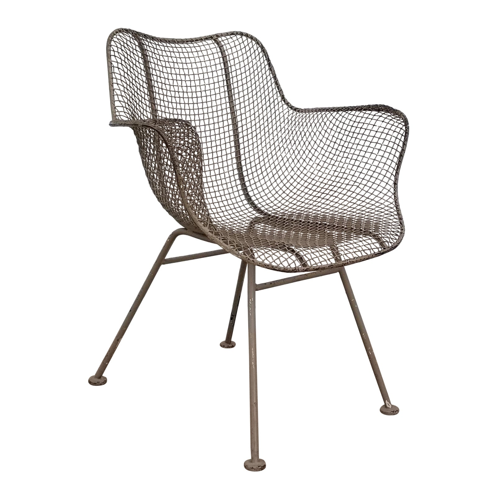 Terrific 1950S Vintage Russell Woodard Metal Accent Chair Andrewgaddart Wooden Chair Designs For Living Room Andrewgaddartcom