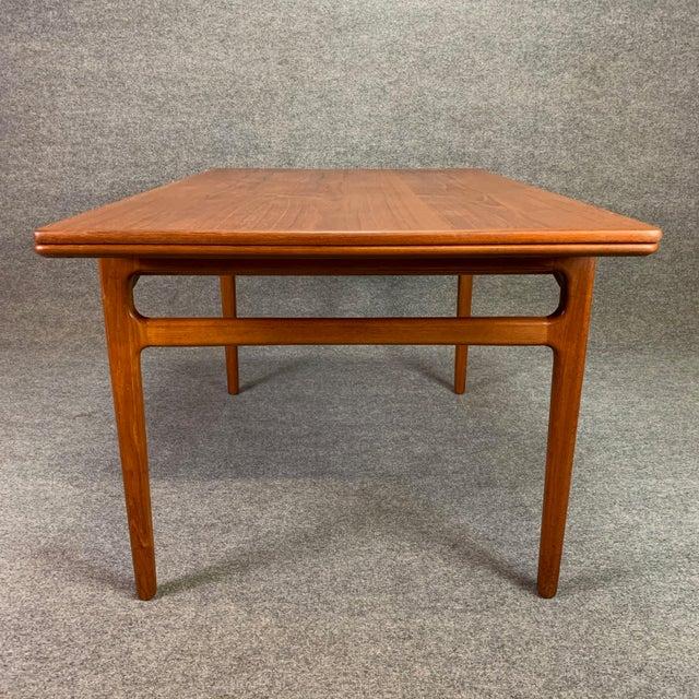 1960s Scandinavian Modern Teak Draw Leaf Dining Table For Sale - Image 4 of 11