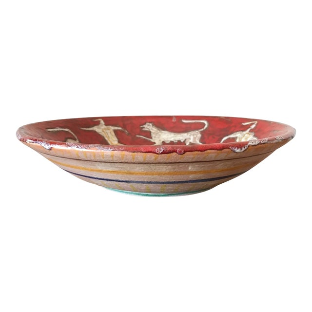 Eugenio Pattarino Ceramic Charger For Sale