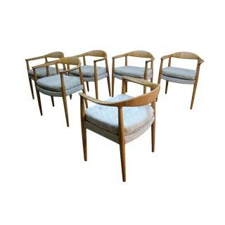 "1940s Vintage Hans Wegner Model Jh501 ""The Chair"" - Set of 6 For Sale"