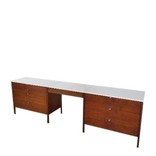 1950s Mid-Century Knoll Vanity Desk Cabinets For Sale