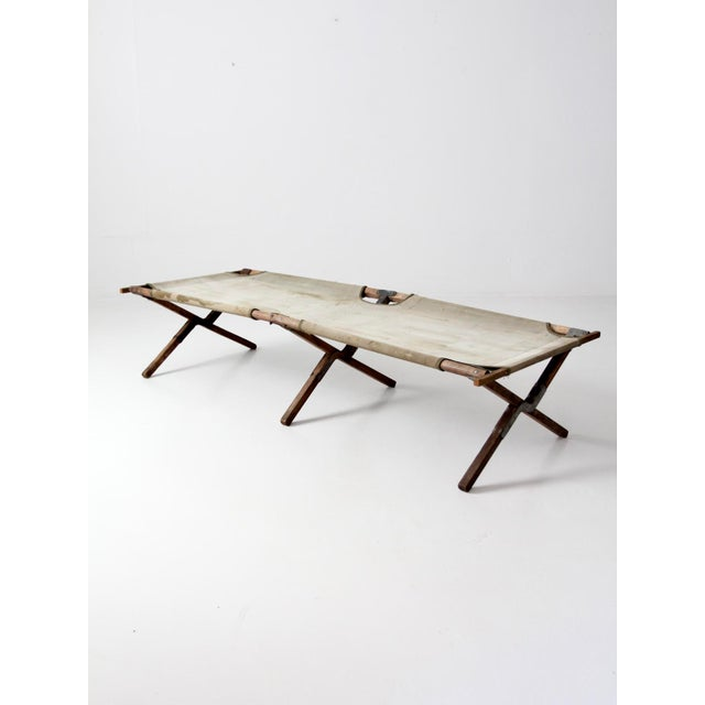 Americana Vintage 1940s Army Cot For Sale - Image 3 of 12