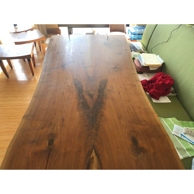 2000 - 2009 Scandinavian Modern Ralph Pucci Walnut Wood Dining Table For Sale - Image 5 of 8
