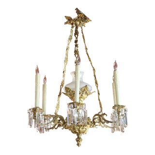 1840 Gilt Bronze Chandelier For Sale
