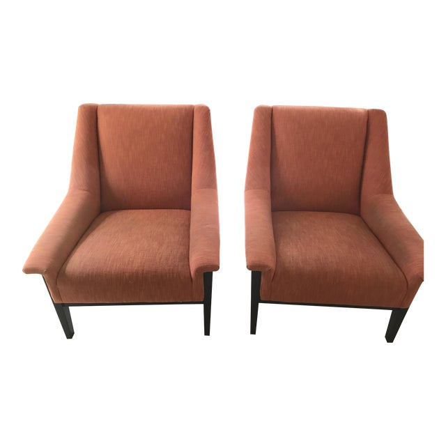 Kravet Windham Lounge Chairs - A Pair - Image 1 of 5