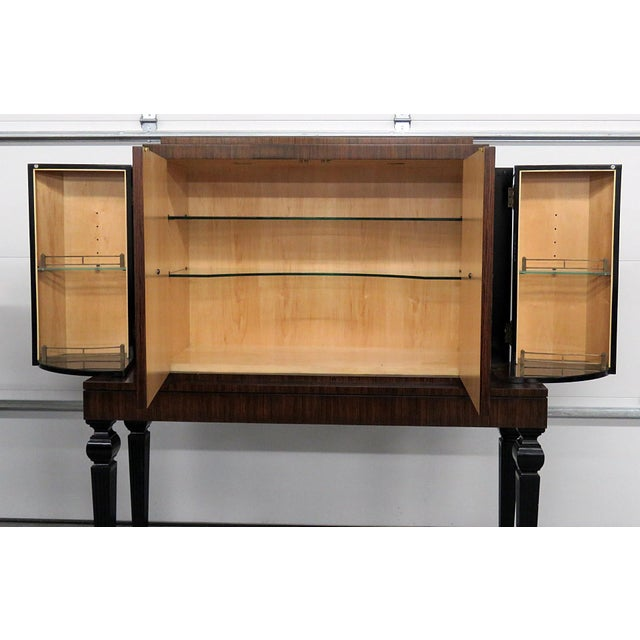 Wood Art Deco Style Rosewood Bar For Sale - Image 7 of 10
