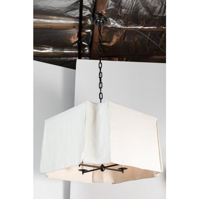 Modern Draped Linen Chandelier by Paul Marra For Sale - Image 5 of 9