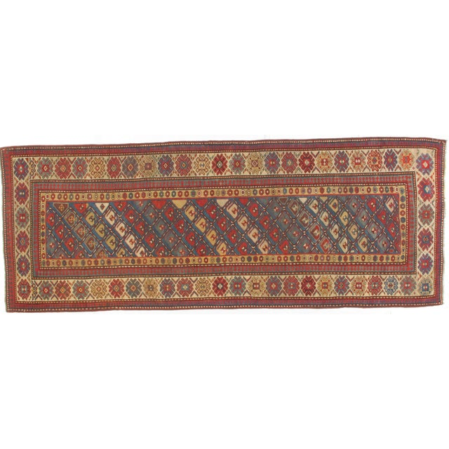 Antique Wool Kazak Runner - 3′9″ × 10′ - Image 1 of 3
