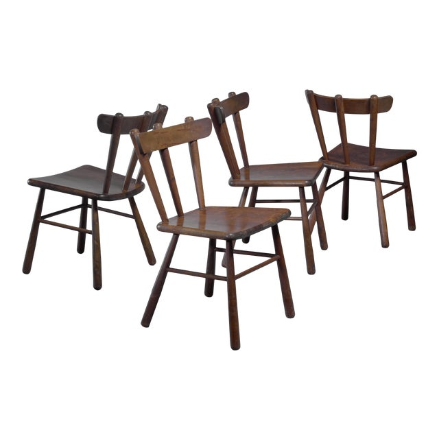 Set of Four Scandinavian Dining Chairs For Sale