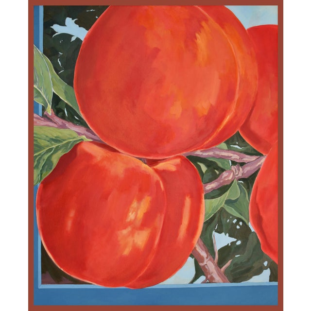 Four Apricots' Painting in Oil on Canvas by George Brinner For Sale
