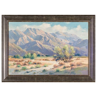 Walter Farrington Moses Palm Springs California Oil on Canvas Signed Impressionist Plein Air Vintage For Sale