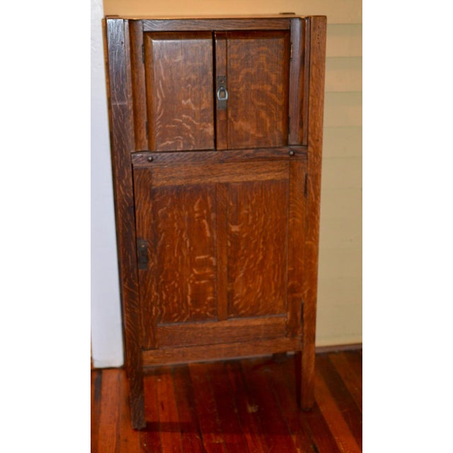1925 Mission Oak Prohibition Era Liquor Cabinet