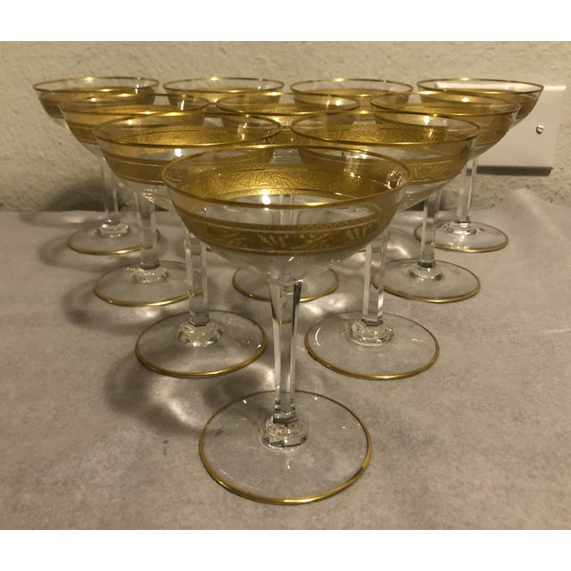 Mid 20th Century Baccarat French Gilt Crystal Directoire Style Glassware - Set of 40 For Sale - Image 9 of 13