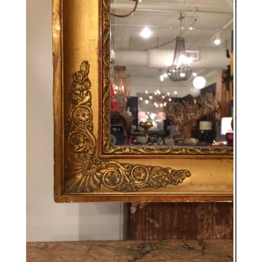 French Empire giltwood pier mirror