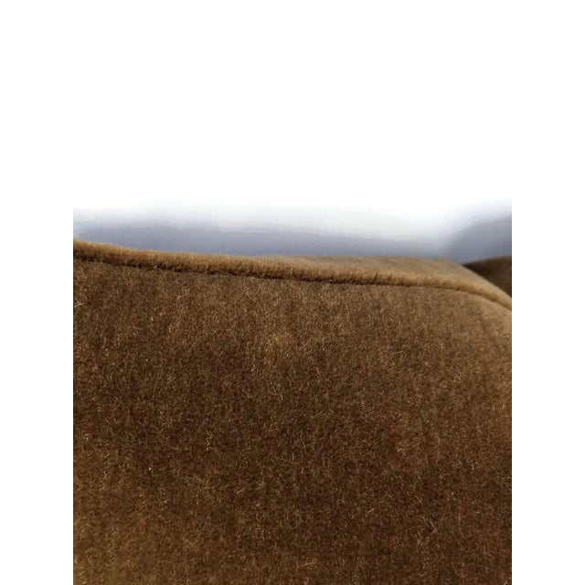 Mohair Velvet Dark Brown Pillow Cover For Sale In Portland, OR - Image 6 of 7