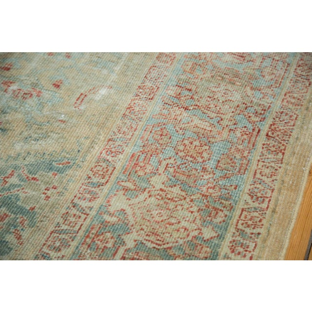 """Textile Distressed Antique Sultanabad Carpet - 9' X 12'5"""" For Sale - Image 7 of 10"""