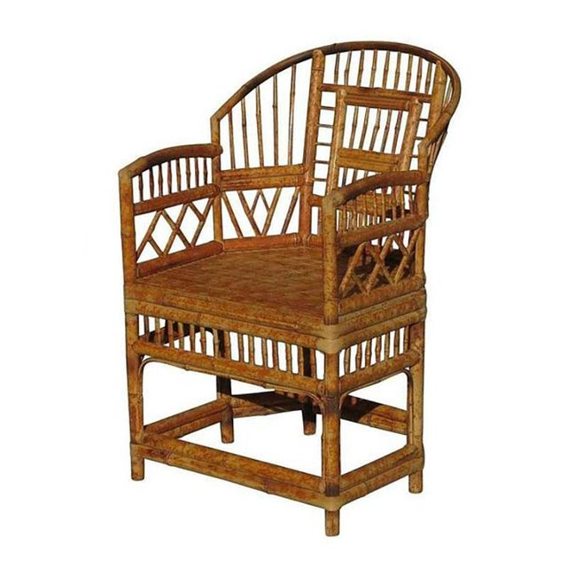"""""""Brighton"""" Tiger Bamboo Armchair For Sale - Image 5 of 5"""