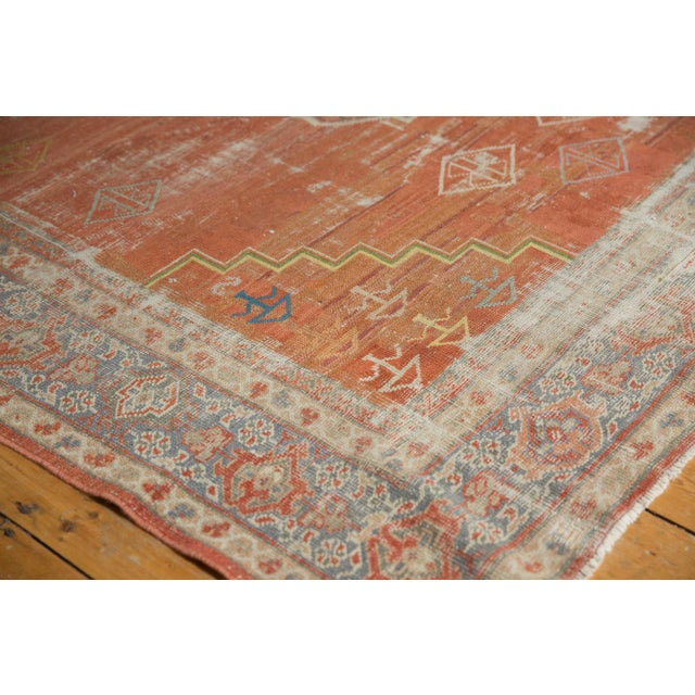 "Vintage Distressed Mahal Carpet - 6'5"" X 9'2"" For Sale - Image 12 of 13"
