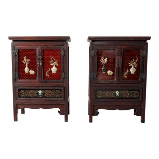 Vintage Chinese Side Cabinets - a Pair For Sale