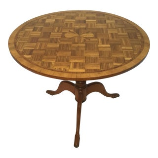 19th Century Italian Cherry and Kings Wood Inlaid Tilt Top Table For Sale
