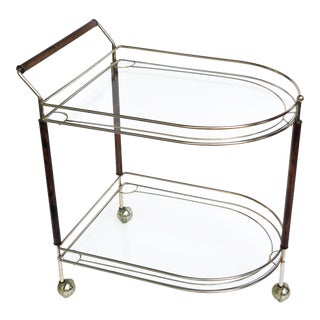 Mid Century Teak Bar Cart