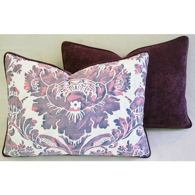 Designer Italian Fortuny Vivaldi Pillows - A Pair - Image 9 of 11
