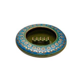 Bohemian Italian Ceramic Ashtray by Bitossi For Sale